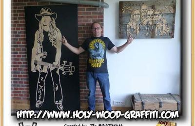 Cliff Burton's portrait in life-size