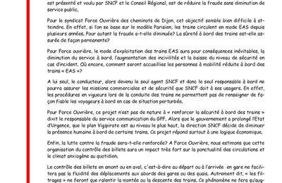 COMMUNIQUE PRESSE FO CHEMINOTS DIJON