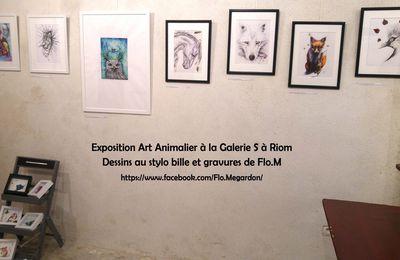 Exposition des animaux fantastiques de Flo.M à la Galerie S à Riom