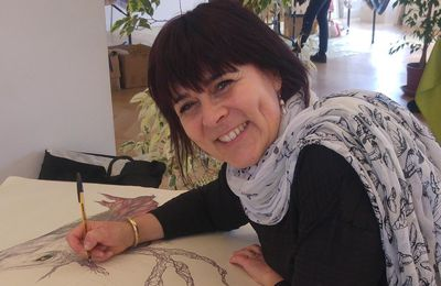 Flo.M en résidence d'artistes à Vichy à Boz'art en Baz'Art 2017