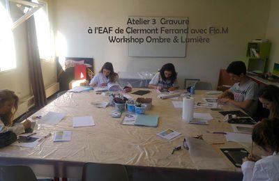 Les 2 derniers ateliers gravures avec l'EAF et Flo.M