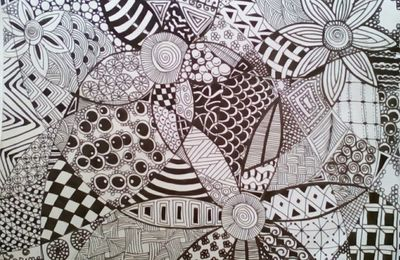 2 dessins Zentangle