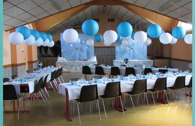 Déco de salle thème montgolfière et nuages