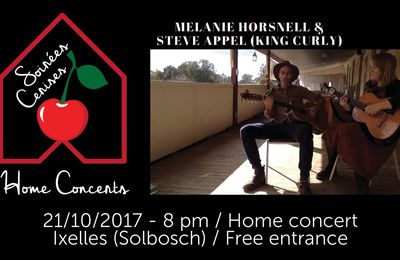 ▶ Concert en appartement avec KING CURLY & MELANIE HORSNELL (Australie) @ Manoir du Solbosch (Ixelles) - 21/10/2017 - 20h30