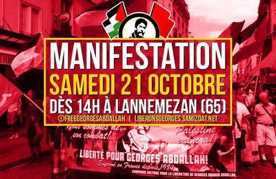 Un bus de Toulouse pour la manifestation pour la libération de Georges Abdallah !