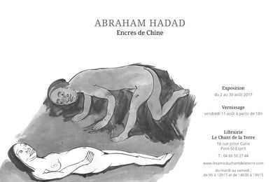 Invitation vernissage exposition Abraham Hadad