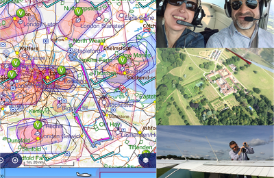 A great flight over the East of London!