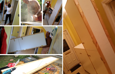 Improving the little house! Petites ameliorations pour la maison jaune