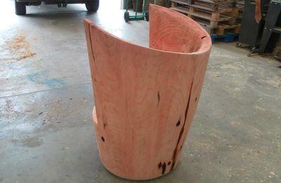 fauteuil séquoia , plaque gravée par stick your cycle
