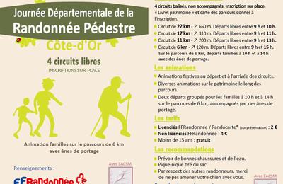 Journée départementale de la randonnée dimanche 24 septembre