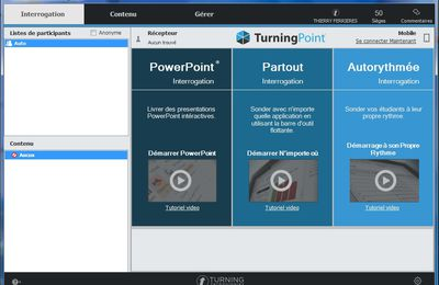 Comprendre comment fonctionne TurningPoint 8 de chez Turning Technologies