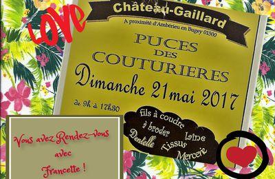 Puces des couturières à Chateau-Gaillard (01)