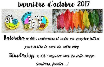 NOUVELLE BANNIERE D'OCTOBRE ...