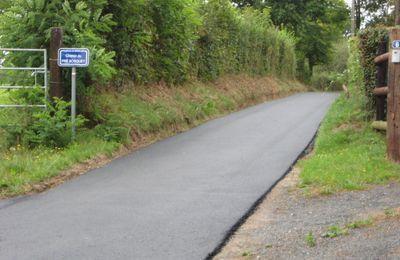 Travaux de rénovation de chemins communaux.