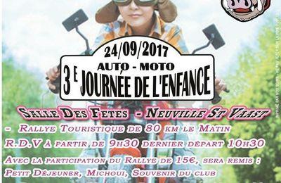 Rassemblement motard dans l'Arrageois pour les motards de l'enfance le 24 septembre 2017