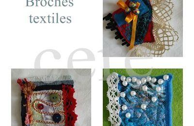 Broches textiles