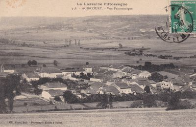 Vue panoramique d'Agincourt (carte postale ancienne)
