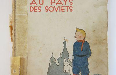 RESTAURATION D'UN TINTIN EMBLEMATIQUE : TINTIN AU PAYS DES SOVIETS  E.O.