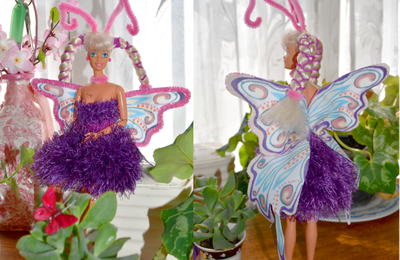 tuto gratuit Barbie : tenue papillon
