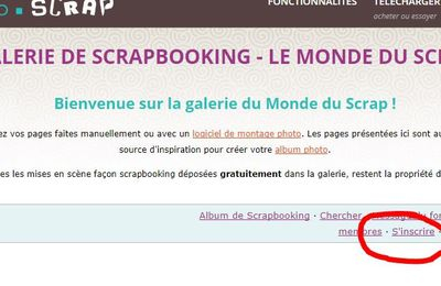 forum Studio Scrap - galerie du CDIP - inscription