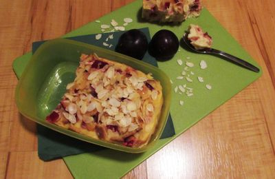 Pudding au micro-onde & aux prunes