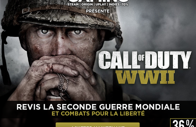 Call of Duty WWII à -36% sur Instant Gaming.