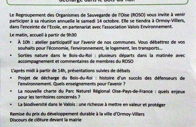Communauté de communes du pays de Valois : Tract de l'association Valois environnement et du ROSO