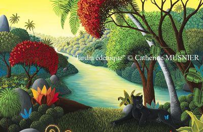 """""""Jardin édénique"""" 92 x 73 cm © Catherine MUSNIER"""