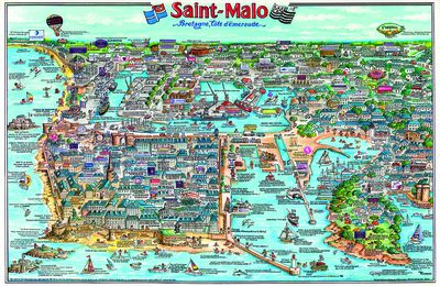 Poster-dessin-illustration de saint-malo