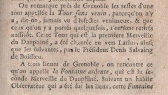 """"""" Géographie moderne """" et merveilles ..... ( Où il est question des Merveilles du Dauphiné dans une édition de 1766...) Texte et photos de Régis Roux."""