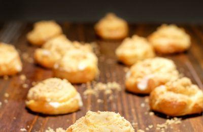 Choux au reblochon et croustillant aux noix