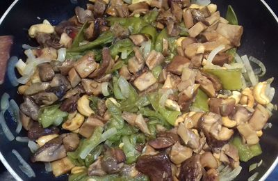 Wok de Cèpes et pois gourmands