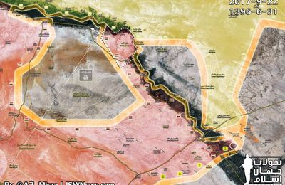 Les forces soutenues par les Etats-Unis avancent vers un autre champ de pétrole alors que l'EI attaque l'armée syrienne près de Deir Ezzor (South Front)