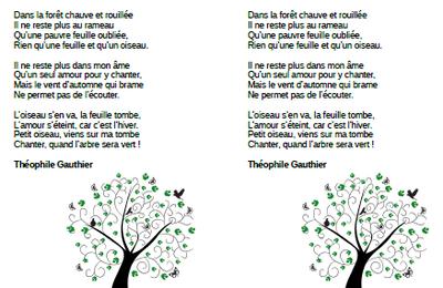 La dernière feuille - Théophile Gauthier - CE2-CM1-CM2