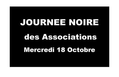 mercredi 18/10 : JOURNEE NOIRE des ASSOCIATIONS
