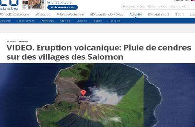 Eruption volcanique: Pluie de cendres sur des villages des iles Salomon (video)