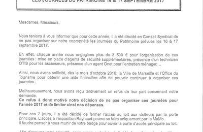 JOURNÉES DU PATRIMOINE 2017