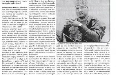 Grande interview de M.Abdelmanane Khatab dans le journal Le TEMPS