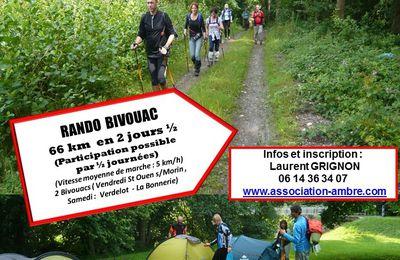 RANDO BIVOUAC du 07 au 09 juillet 2017 - Vallée du Petit Morin (77)