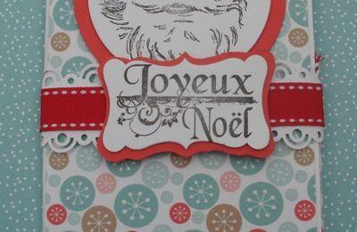 Cartes de Noel porte-billet
