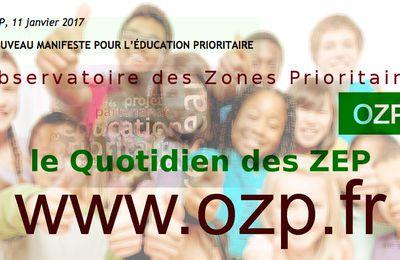 11 JANVIER 2017 - Rencontre OZP / Présentation par Marc DOUAIRE Président de l'OZP, du Manifeste  2017 EDUCATION PRIORITAIRE