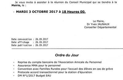 Prochain Conseil Municipal Fertois