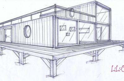 Maison container sur pilotis