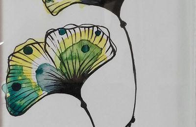 Petits cadres à vendre..dessins de fleurs