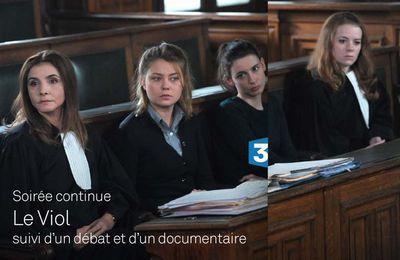 """Succès pour la soirée continue autour de la fiction """"Le Viol"""" sur France 3"""
