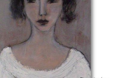 Blanc votre visage, d'après un portrait peint par Denise LOUIN