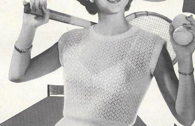 Petit haut tricoté  pour l'été