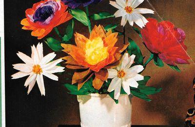 Bouquet de fleurs en papier, fleur de pommier