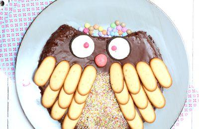 | Un chouette gâteau d'anniversaire | au chocolat, sans beurre (huile de noix de coco)