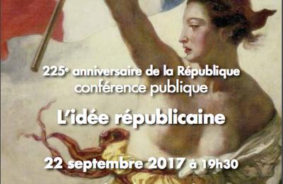 GODF, 225° anniversaire de la République, le 22 septembre.